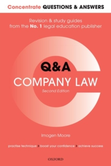 Concentrate Questions and Answers Company Law : Law Q&A Revision and Study Guide, Paperback / softback Book