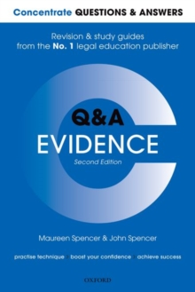 Concentrate Questions and Answers Evidence : Law Q&A Revision and Study Guide, Paperback / softback Book