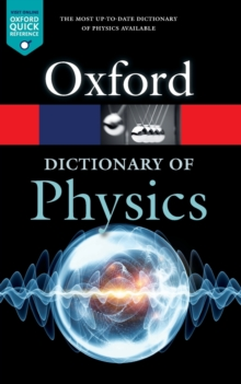 A Dictionary of Physics, Paperback / softback Book