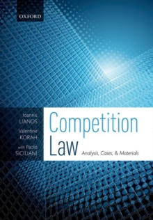 Competition Law : Analysis, Cases, & Materials, Paperback / softback Book