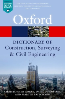 A Dictionary of Construction, Surveying, and Civil Engineering, Paperback / softback Book