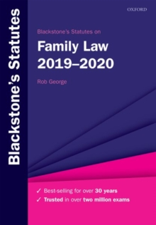 Blackstone's Statutes on Family Law 2019-2020, Paperback / softback Book