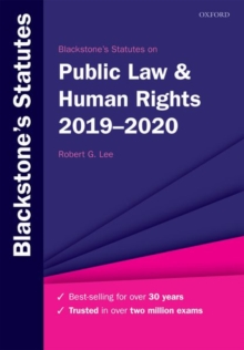 Blackstone's Statutes on Public Law & Human Rights 2019-2020, Paperback / softback Book