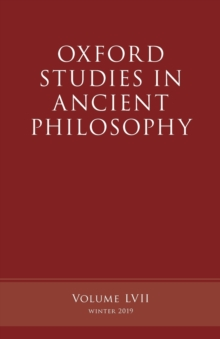 Oxford Studies in Ancient Philosophy, Volume 57, Paperback / softback Book