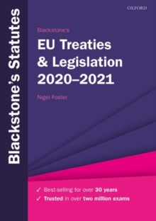 Blackstone's EU Treaties & Legislation 2020-2021, Paperback / softback Book