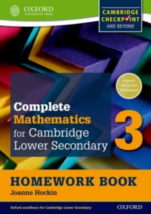 Complete Mathematics for Cambridge Lower Secondary Homework Book 3 (Pack of 15) : For Cambridge Checkpoint and beyond, Multiple copy pack Book