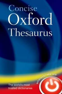 Concise Oxford Thesaurus, Hardback Book