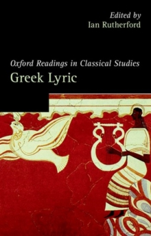 Oxford Readings in Greek Lyric Poetry, Paperback / softback Book