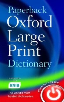 Paperback Oxford Large Print Dictionary, Paperback Book