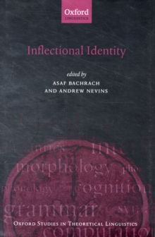 Inflectional Identity, Hardback Book