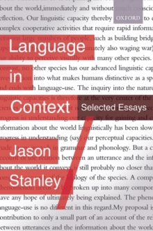 Language in Context : Selected Essays, Hardback Book