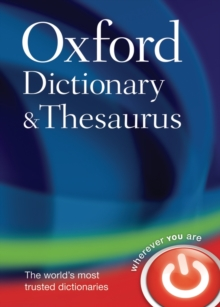 Oxford Dictionary and Thesaurus, Hardback Book