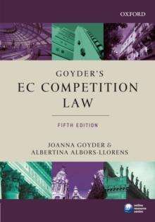 Goyder's EC Competition Law, Paperback / softback Book