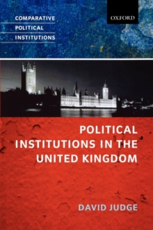 Political Institutions in the United Kingdom, Paperback / softback Book