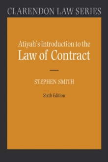 Atiyah's Introduction to the Law of Contract, Paperback / softback Book
