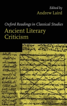 Ancient Literary Criticism, Paperback Book