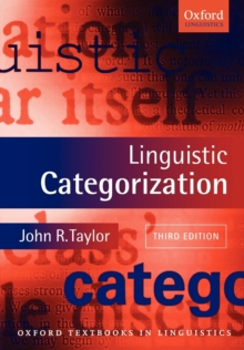Linguistic Categorization, Paperback Book