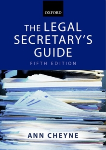 The Legal Secretary's Guide, Paperback Book
