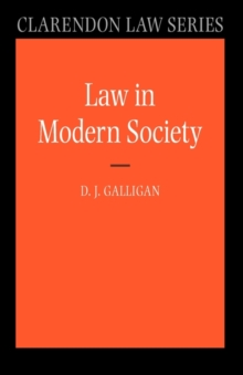 Law in Modern Society, Paperback / softback Book