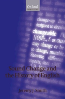 Sound Change and the History of English, Hardback Book