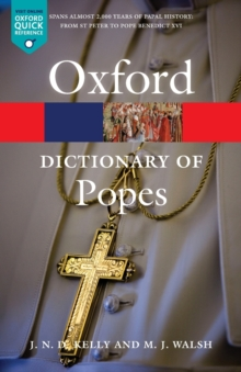 A Dictionary of Popes, Paperback Book