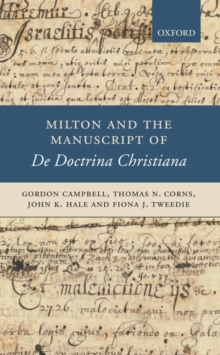 Milton and the Manuscript of De Doctrina Christiana, Hardback Book