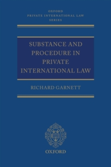Substance and Procedure in Private International Law, Hardback Book