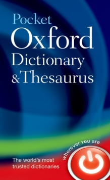 Pocket Oxford Dictionary and Thesaurus, Hardback Book