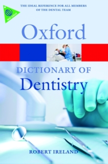 A Dictionary of Dentistry, Paperback Book