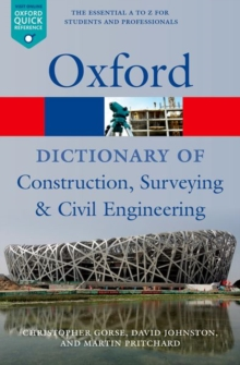 A Dictionary of Construction, Surveying, and Civil Engineering, Paperback Book