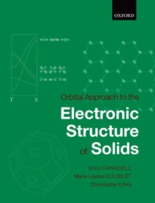 Orbital Approach to the Electronic Structure of Solids, Hardback Book