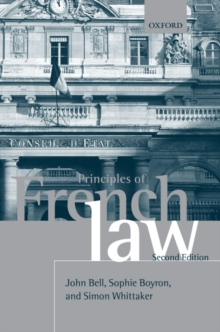 Principles of French Law, Paperback / softback Book