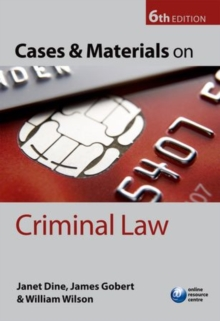 Cases and Materials on Criminal Law, Paperback Book