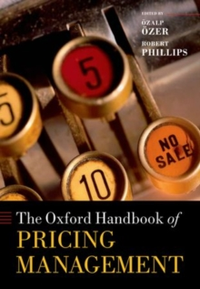 The Oxford Handbook of Pricing Management, Hardback Book