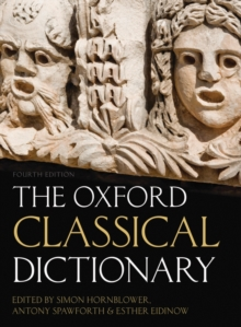 The Oxford Classical Dictionary, Hardback Book