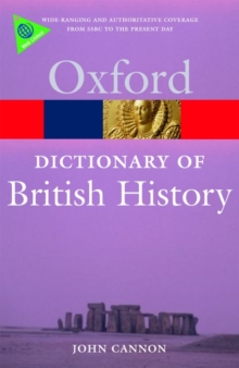 A Dictionary of British History, Paperback Book