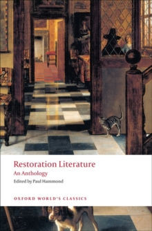 Restoration Literature : An Anthology, Paperback / softback Book