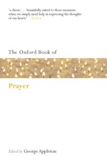 The Oxford Book of Prayer, Paperback Book