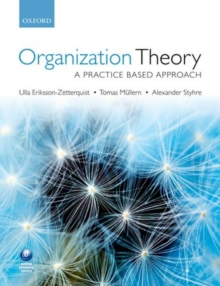 Organization Theory : A Practice Based Approach, Paperback Book