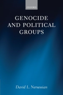 Genocide and Political Groups, Hardback Book