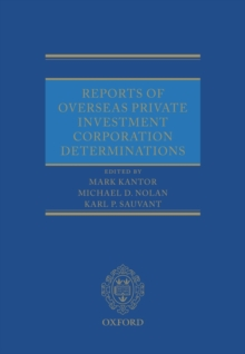 Reports of Overseas Private Investment Corporation Determinations, Multiple copy pack Book