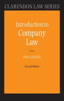 Introduction to Company Law, Hardback Book