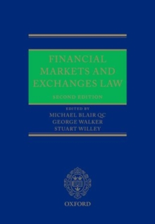 Financial Markets and Exchanges Law, Hardback Book