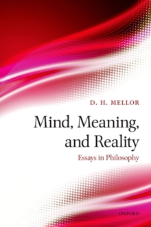 Mind, Meaning, and Reality : Essays in Philosophy, Hardback Book