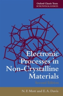 Electronic Processes in Non-Crystalline Materials, Paperback / softback Book