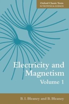 Electricity and Magnetism, Volume 1, Paperback / softback Book