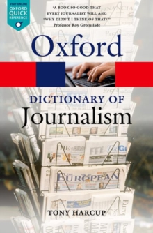 A Dictionary of Journalism, Paperback Book