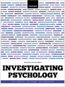 Investigating Psychology : Key concepts, key studies, key approaches, Paperback / softback Book
