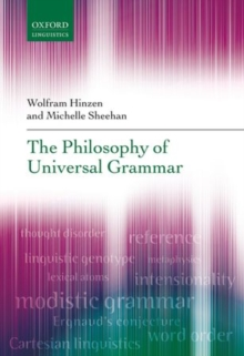 The Philosophy of Universal Grammar, Hardback Book