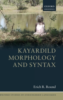 Kayardild Morphology and Syntax, Hardback Book